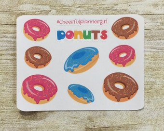 Donuts Small Sampler Planner Stickers Set s3