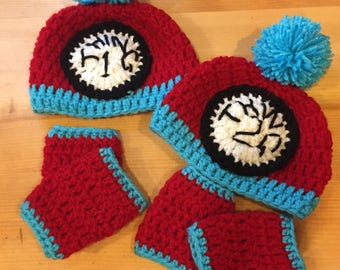 Baby Thing 1&2 Hat and Leg Warmer Set