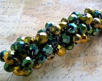 Glass Beaded Barrette Clip