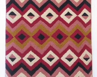 "Hand-hooked rug ""Antique Navajo"""