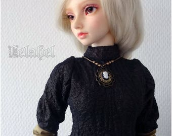 Gold and brown outfit for feeple60 sd doll girls