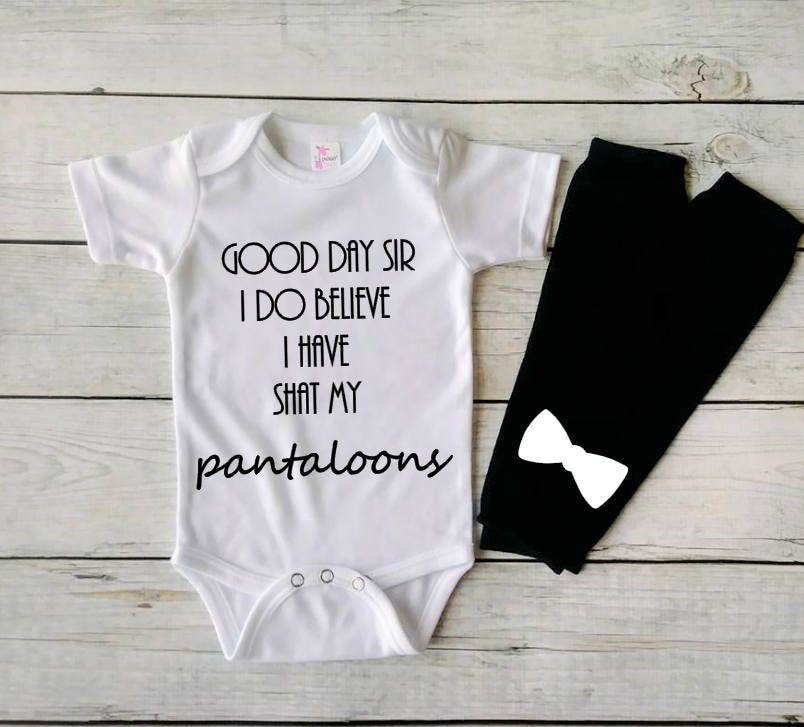 Funny Baby Bodysuit Good Day Sir Funny Baby Clothes