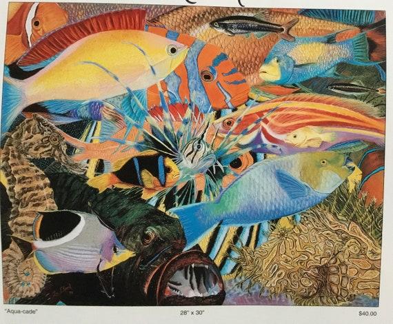 Tropical painting/ Wall Decor/ Wall Art/ Fish Painting