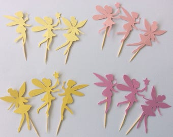 Tinkerbell, Cupcakes, Fairy cake topper, Fairy cupcake toppers, Girls birthday party, Cupcake toppers, Garden party, Tinkerbell birthday