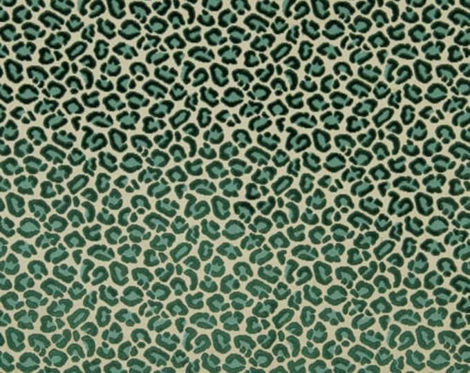 Emerald Green Velvet - Robert Allen Cheetah Pillow Cover