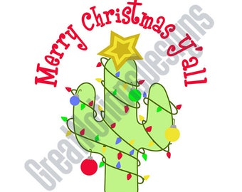 Merry Christmas Y'all SVG - HTV - Vinyl Cutting Graphic Art