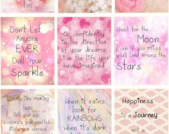 Pink Inspirational Quotes: H22