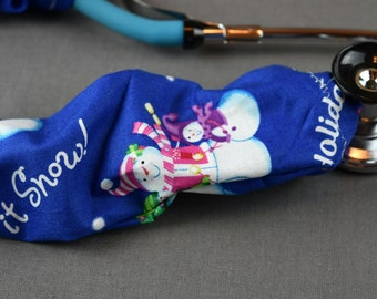 Stethoscope Cover Christmas Holiday   Snowman stethoscope Cord cover   Nurse Doctor Gift   Stethoscope Sock   Stethoscope Accessories