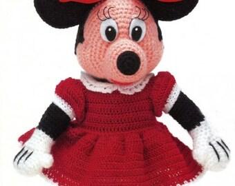 "12"" Minnie Mouse Crochet English version Pattern - Disney Crochet Pattern -Amigurumi / PDF-Instant Download."