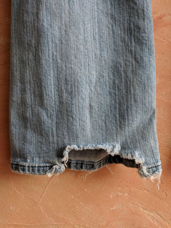 Salvaged Baby Rustic Blue Inner Country Road Levi's Light Boho Cut 90's Jeans Distressed Classic Grunge Thrashed 32x33 Levis Girl City nvUvIt