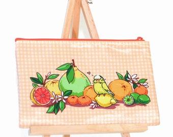 Citrus Budgie Zipper Bag