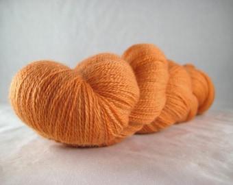 Butternut Squash - Hand Dyed Superwash Merino Silk Cobweb Lace Yarn
