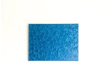 Blue Metallic Painting, Metallic Textured Art, Abstract Metallic Painting, Acrylic Painting, Original Abstract Art, Abstract Metallic Art
