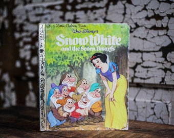 1984 Snow White and the Seven Dwarfs Little Golden Book
