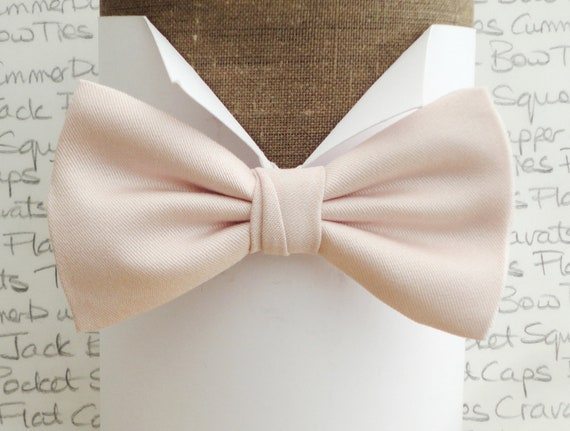Ballerina pink bow tie, pale blush pink bow tie, wedding bow tie, groom bow tie, bow ties for men