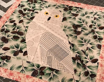 Owl Foundation Paper Piecing Pattern
