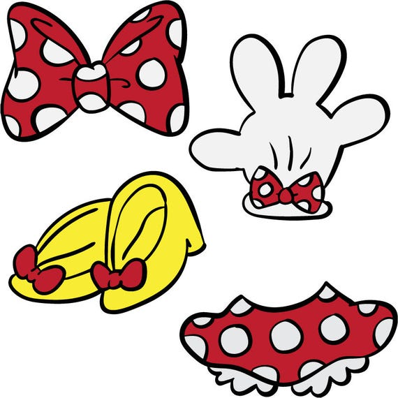 Mini Mouse Parts Svg Dxf Jpg Png Eps File Minnie