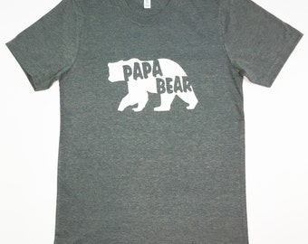CLEARANCE!!!! Papa Bear Shirt, Papa Bear, Father's Shirt, Dad Shirt, Father's Day, Dad to Be, Baby Announcement, Birthday
