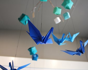 Cranes and Boxes - Origami Mobile