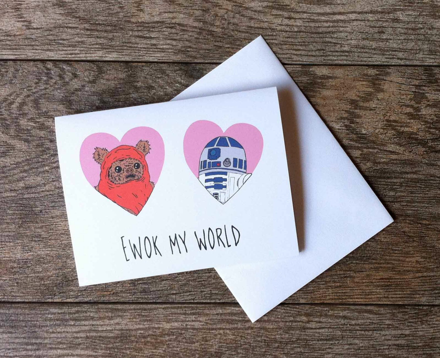 Ewok And R2 D2 Star Wars Greeting Card