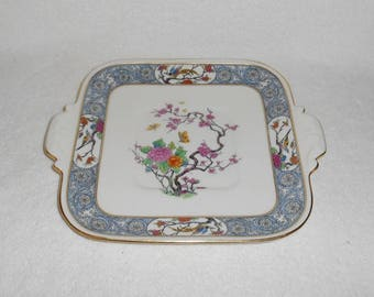 Lenox Ming Pattern Square Handled Cake Plate with Older Black Mark