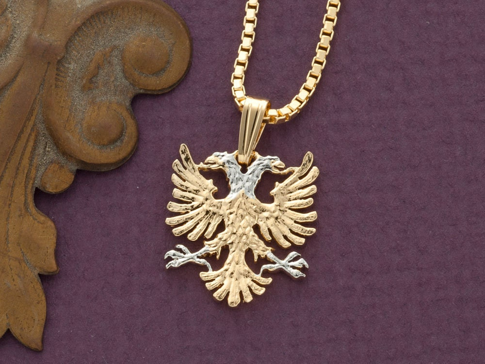 Albanian eagle pendant and necklace albanian jewelry 14 zoom aloadofball Images