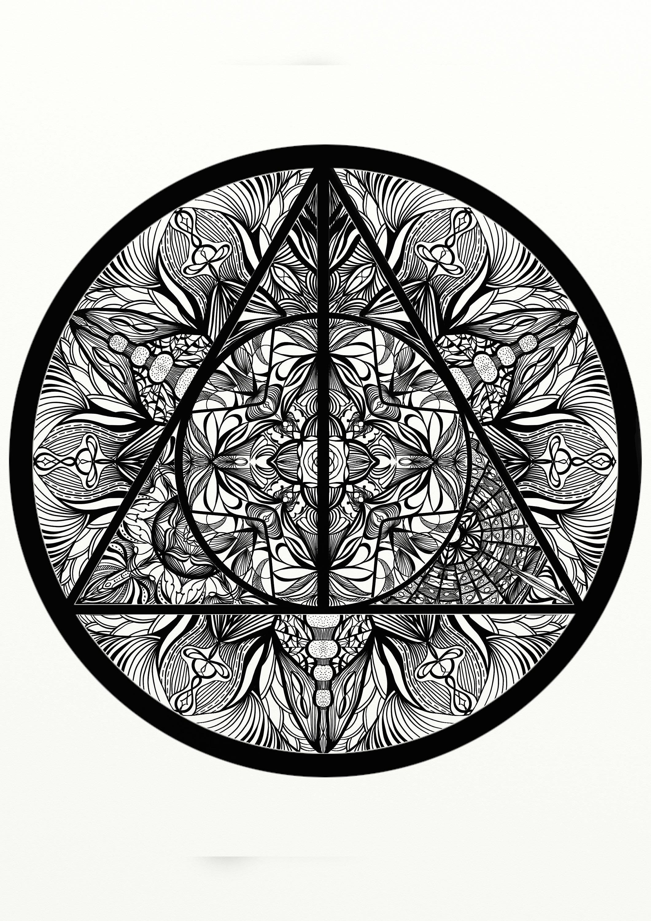 Image Result For Deathly Hallows Coloring Pages