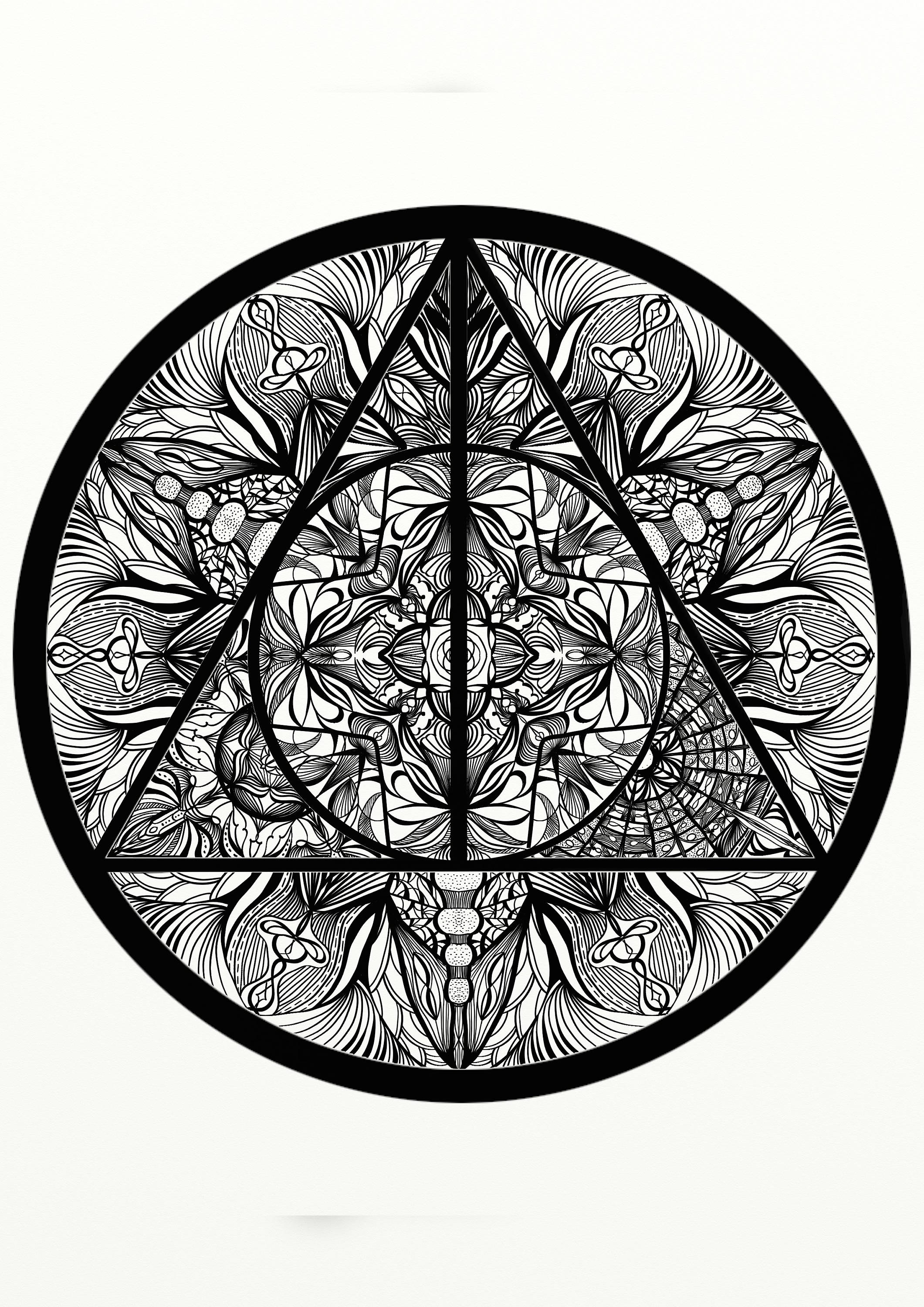 Deathly Hallows Coloring Pages