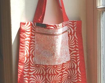 original bag in colorful shades of Orange fabrics