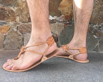 Barefoot Men Sandals - 100 % Genuine leather Barefoot Huarache sandals. running sandals, Free Shipping!