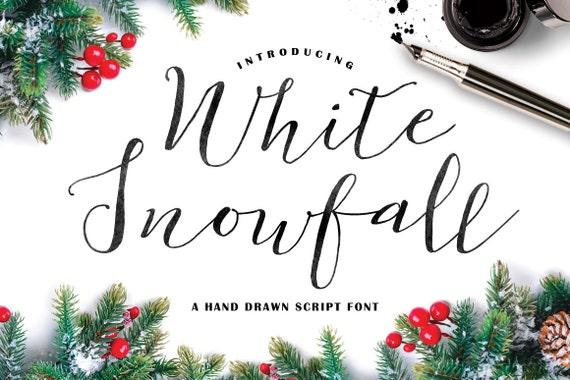 Calligraphy Font, Hand Writing, Digital Fonts, Wedding Font, Invitation Font, Script Font, Digital Download, White Snowfall