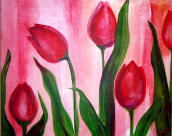 Red Tulips by Kristen Dougherty