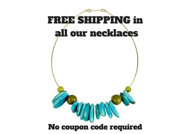 Free shipping necklaces, silver necklace no shipping cost, brass necklace, tagua choker, tumbaga pieces, alpaca neck accessories