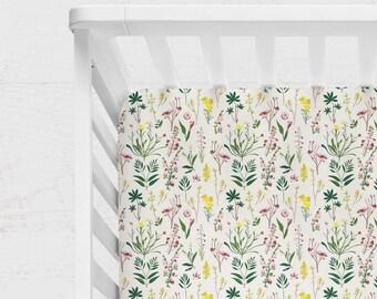 FLORAL CRIB BEDDING. Rose Flowers Baby Sheet. Floral Baby Blanket. floral Crib Sheet. flowers baby blanket. floral crib quilt.