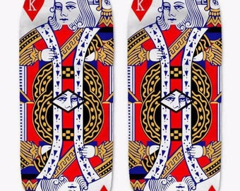 King of hearts ankle socks