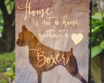 Boxer Yard Flag | Home With A Boxer Dog | Garden Or Large House Flag |
