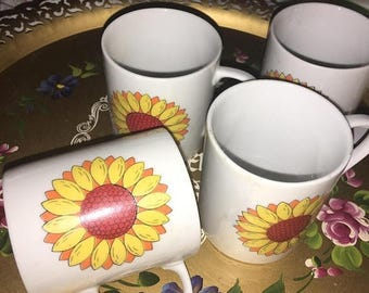 25% off customer app set 4 china Flower power  Daisy  mug set