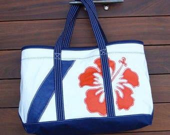 Boyd's Sailcloth Premium Shore Bag - Custom Tote Bag, Beach Bag, Sailcloth Tote, Personalized Bag, Handbag, Beach Bag, Wedding Bag