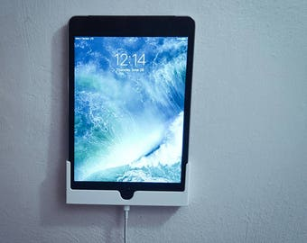 APPLE IPAD Mini 4 wall mount docking station with mounting screws (black or White) Free SHIPPING