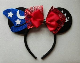 Fantasia inspired Minnie Mouse Ears Headband