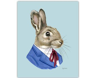 Bunny Rabbit art print by Ryan Berkley 11x14