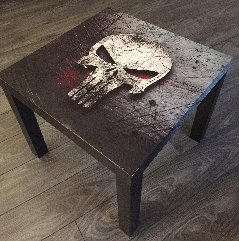 Side table Table coffee dead head Skull skull Punisher blood