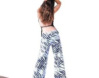 Dancing Zebra Pants - Eco Upcycled Festival Fun Dance Pants