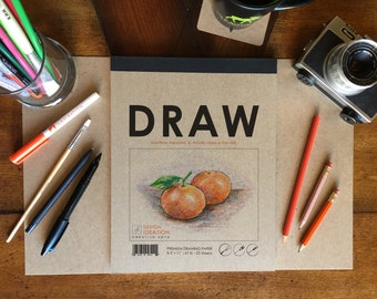 Premium Paper Drawing Pad for Pencil, Ink, Charcoal, Marker and Watercolor Painting. Great for Art,Design and Education.