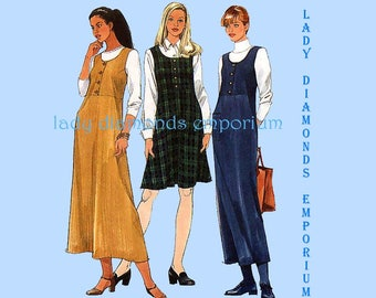 Simplicity 8225 Womens Raised Waist Jumper with Straight or Flared Skirt size 12 14 16 Bust 34 36 38 Sewing Pattern Uncut FF
