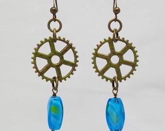 Steampunk Ocean Tide Earrings