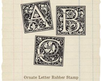 Ornate Letter rubber stamp (Choose 1)