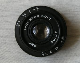 Soviet Lens INDUSTAR - 50-2, 1:3,5 F=50, M42 Mount, Great Condition