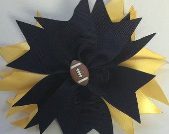 Sports Themed Hairbows...Free Shipping