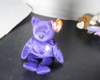 1997 Ty Princess Diana Beanie Baby Great Condition with Ear Tag and Bottom Tag